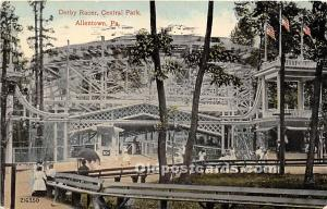 Allentown, Pennsylvania, PA, USA Postcard Derby Racer, Euclid Beach Park 1915