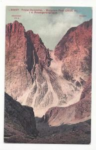 Italy Alps Tirol Molignon Pass Rosengartengruppe Vintage Pos