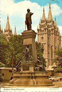 Utah Salt Lake City Brigham Young Monument 1977