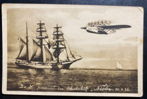 Mint Dornier DOX Giant Seaplane Picture Postcard   Over Niobe
