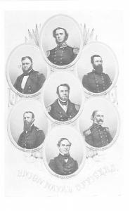Civil War Post Card Old Vintage Antique Postcard Union Naval Officers Unused