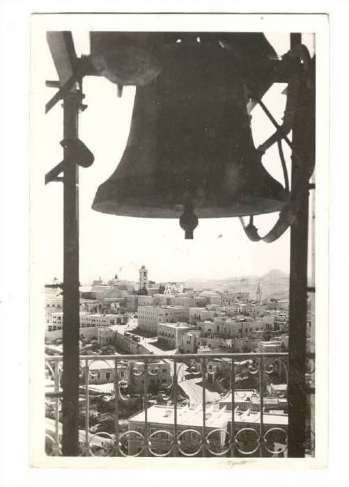 RP: Christmas Bells , Bethlehem , Palestine , PU-1954