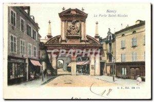 Old Postcard Nancy Porte Saint Nicolas