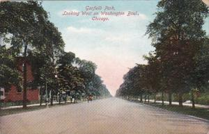 Illinois Chicago Garfield Park Looking West On Washington Boulevard