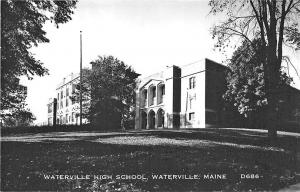 Waterville ME High School RPPC Real Photo Postcard