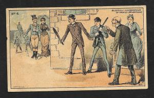 VICTORIAN TRADE CARD Boston Clothier #4 'Blissfully Unconscious...' Man & Woman