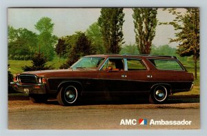 AMC Ambassador Station Wagon, Automobile, Chrome Postcard