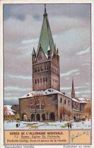 Liebig Vintage Trade Card S1289 Medieval German Cathedrals 1934 No 7 Soest Eg...