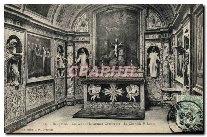 Old Postcard Dauphine Convent of the Grande Chartreuse La Chapelle St Louis