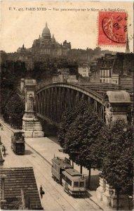 CPA PARIS (18e) Vue panoramique sur le Metro et le Sacre-Coeur (563501)