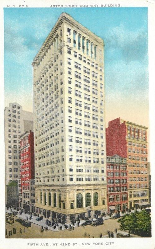 New York City~Astor Trust Company Building~5th Ave @ 42nd Street~1920s