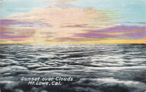 MT. LOWE, California, 1900-1910's; Sunset Over Clouds
