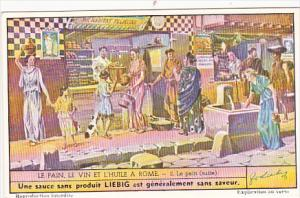 Liebig Trade Card s1501 Bread Wine and Oil Of Rome No 2 Le apin suite