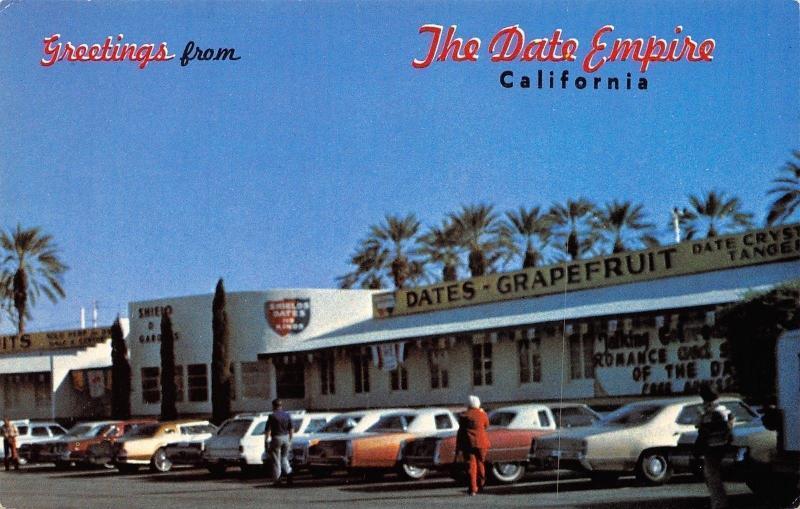 indio californiashields date gardendate empire1960 postcard - Shields Date Garden
