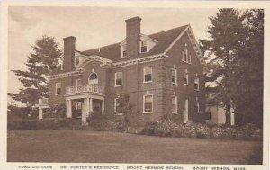 Massachusetts Mount Herman School Ford Cottage And Dr Porters Residence Alber...