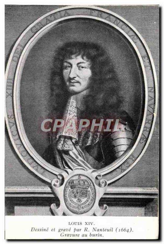 Old Postcard Louis XIV