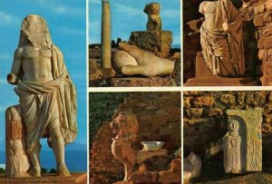 Tunisia Carthage Antiquarium Statues Ruins Sculptures Postcard
