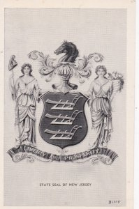State Seal Of NEW JERSEY, Liberty & Prosperity,1940-60s