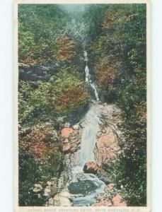 Unused Divided-Back WATERFALL SCENE Crawford Notch New Hampshire NH E4438