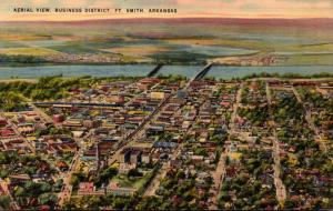 Arkansas Fort Smith Aerial View Of Business District 1943