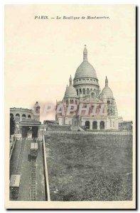 Old Postcard Paris Basilica of Montmartre