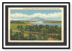 Massachusetts, Cape Cod - Railroad & Bourne Bridges - Cape Cod Canal