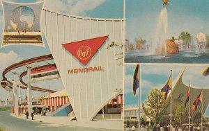 NEW YORK CITY, 1964-65; World's Fair, Monorail, Solar Fountain, General Motor...