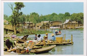 Thailand Miniature Floating Market Outside Bangkok