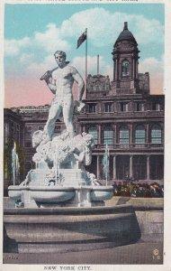 NEW YORK CITY, New York, PU-1928; Civic Virtue Statue And City Hall