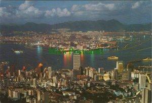 China Postcard - Hong Kong Night Scene From Peak   RR8845