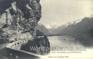 Axenstrasse und Bristenstock Swizerland Unused