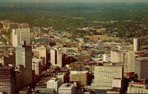 Georgia Atlanta Aerial View Of Downtown