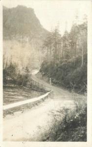 1923 New Hampshire Rusal Highway River RPPC real photo postcard 6022