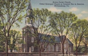 Bruton Parish Church Oldest Episcopal Church In Constant Use In America Willi...