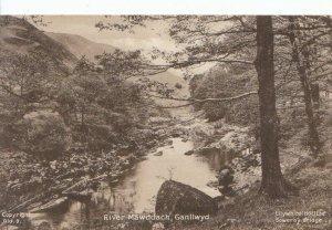 Wales Postcard - River Mawddach - Ganllwyd - Ref 3175A