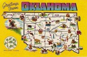 Map ; Oklahoma , RT 66 , 1958