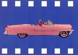 Pink Cadillac Postcard, Alliance and Leicester Promotional Advertising Card P58