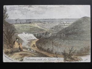 Kent FOLKESTONE with the Viaduct 1850 c1904 Postcard by English Series 0209