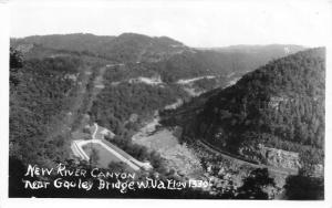 Gouley Bridge West Virginia~New Kanawha River Canyon~Fayette County~1930s RPPC
