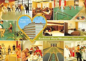 Herzliche Gruesse Kurklinik Porta Westfalica Hausberge Schwimmbad Bowling