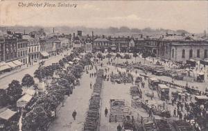 England Salisbury The Market Place Street Scene 1905