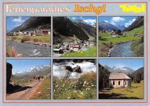 Ferienparadies Ischgl Tirol Promenade River Mountain Chapel Panorama