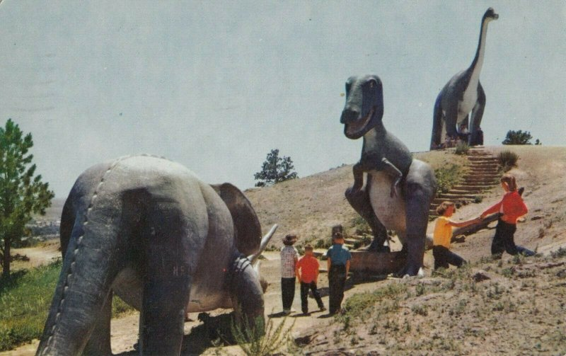 RAPID CITY , South Dakota , 1950-60s ; Dinosaur on Skyline Drive