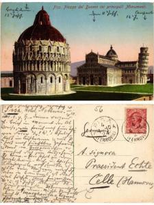 CPA PISA Piazza del Duomo coi principali Monmenti. ITALY (467464)