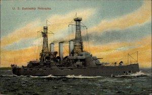 US Navy Battleship Nebraska #217839 c1910 Unused Postcard