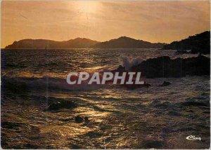 Postcard Modern French Riviera Cote d'Azur France Sunset in the Mediterranean