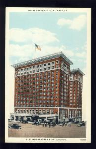 Atlanta, Georgia/GA Postcard, Henry Grady Hotel