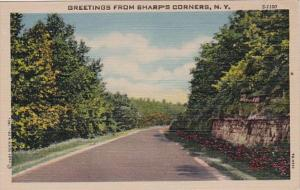 New York Greetings From Sharp's Corners Curteich