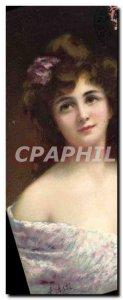Old Postcard Fantasy Illustrator Woman Asti