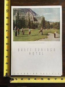 1949 Banff Springs Hotel Dinner Menu Canadian Pacific Hotels Eighteenth Hole